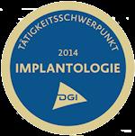 Siegel Tätigkeitsschwerpunkt Implantologie